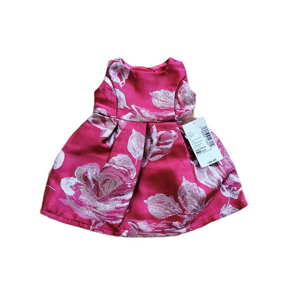Childrens Place Classic Red Shimmer Rose Dress